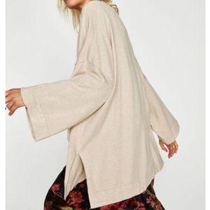 Zara Knit Kimono Blazer